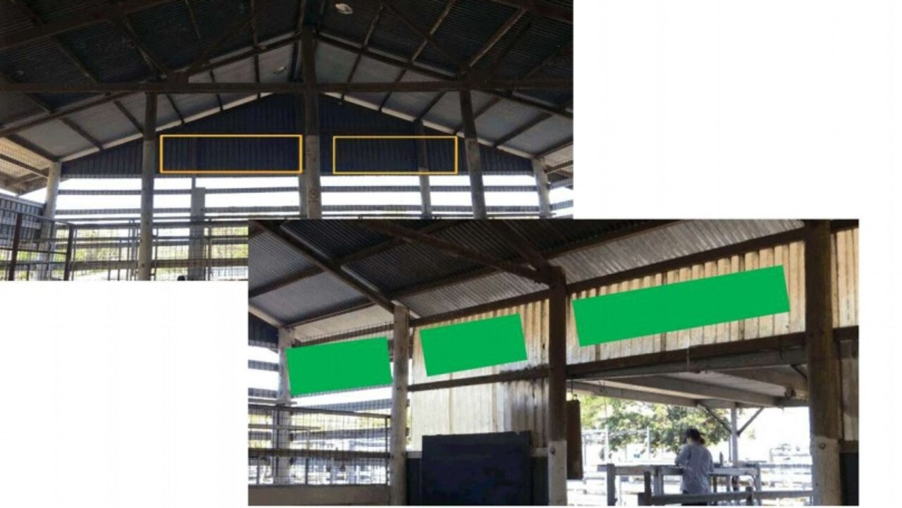 Plans for signage at the Laidley Saleyard.