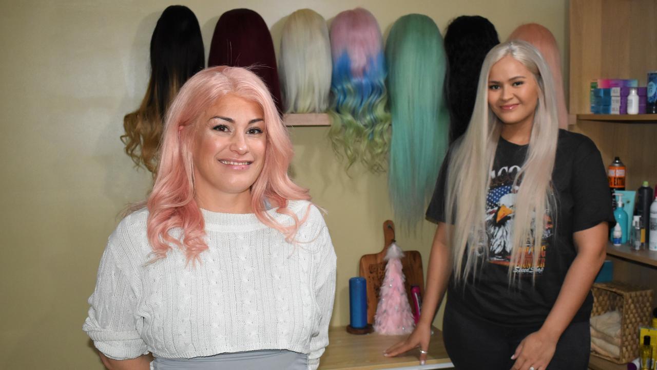Ambience Hair Boutique's Amber Tauapie with niece Sofi Leota.