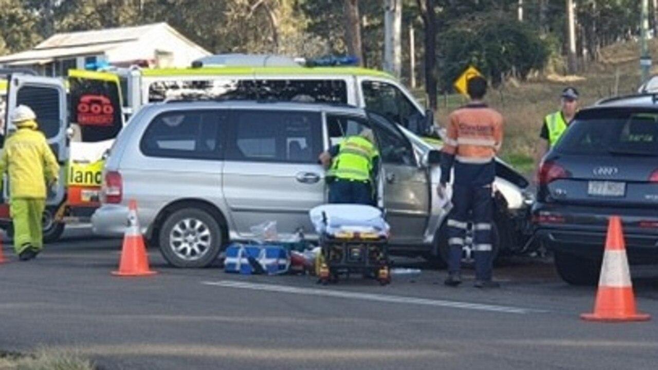 Crash at Kandanga this afternoon.