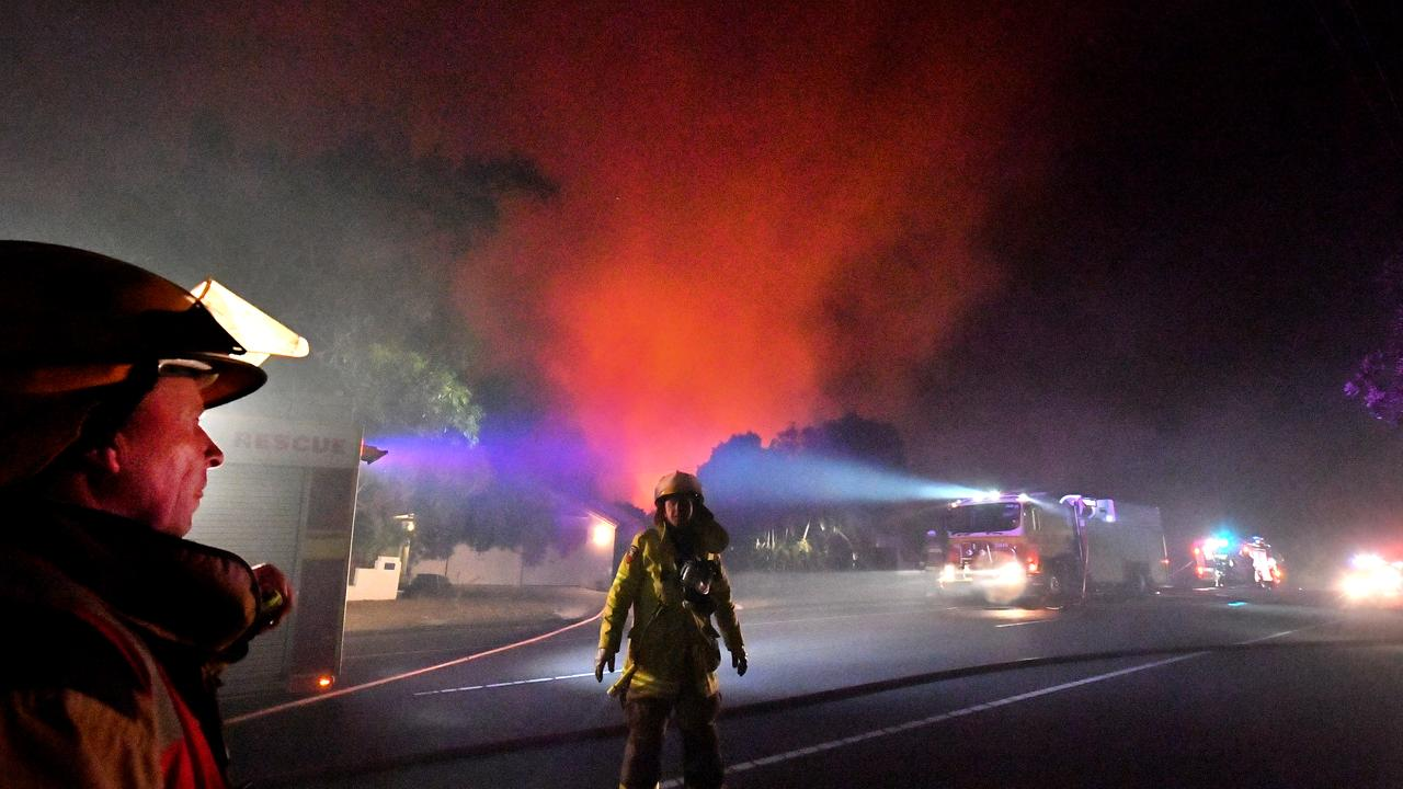 Firefighters and emergency crews risked their lives to fight the front as it rolled through dry bushland last year.