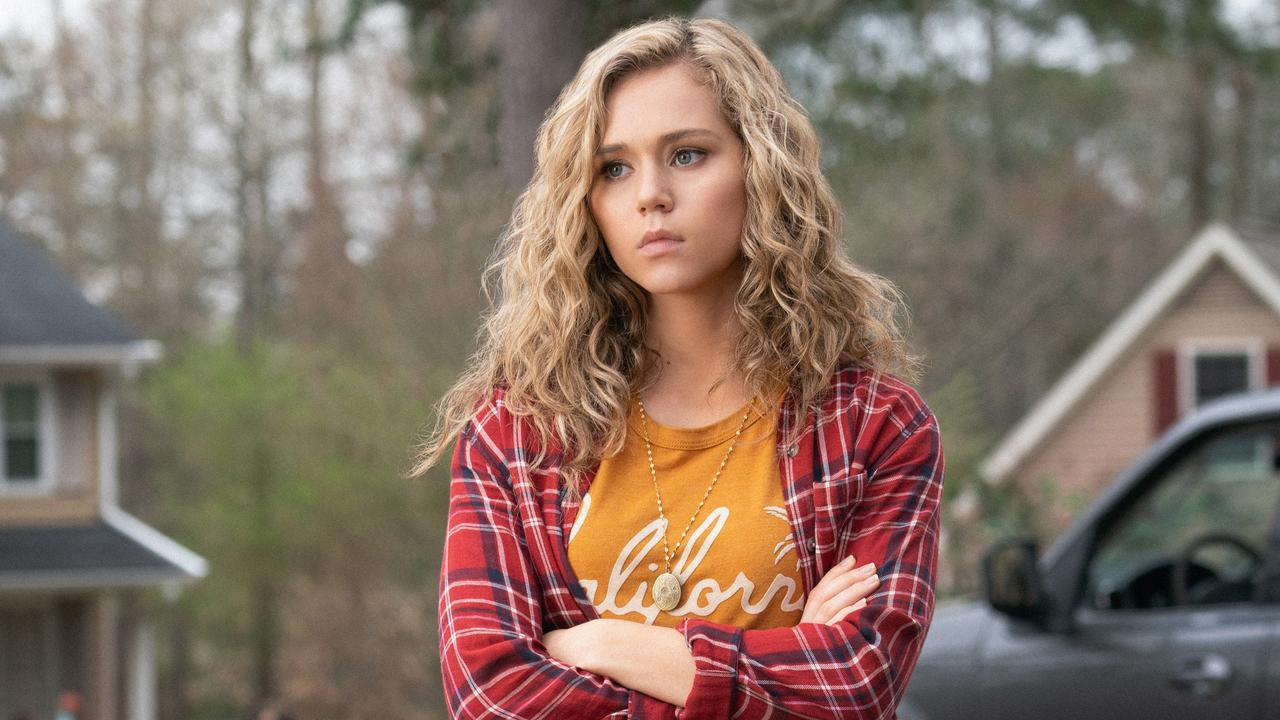 Brec Bassinger as Courtney Whitemore – aka Stargirl – in the DC Comic show of the same name.