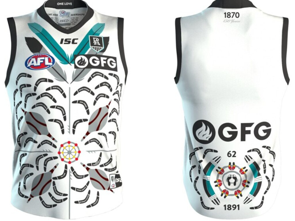 Port Adelaide 2020 Sir Doug Nicholls Indigenous Round jumper.