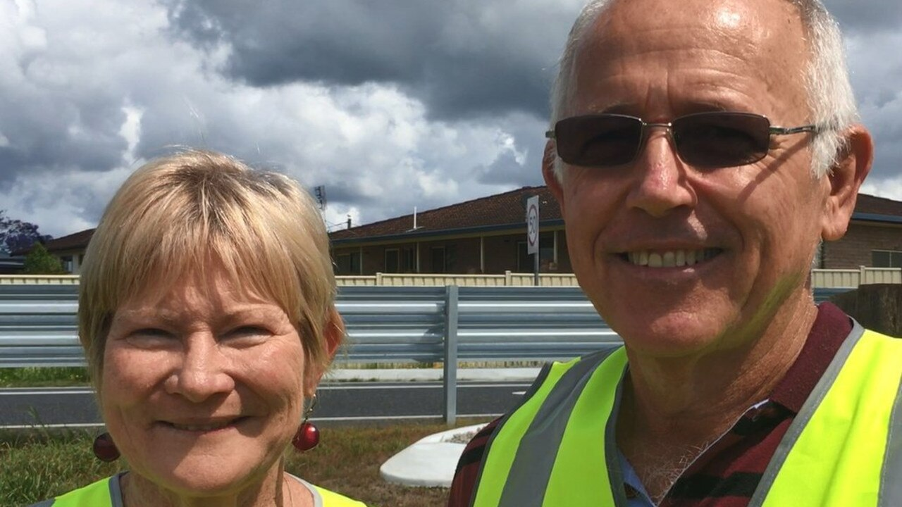 Di and John Leask from Ulmarra - campaigners for speed camera