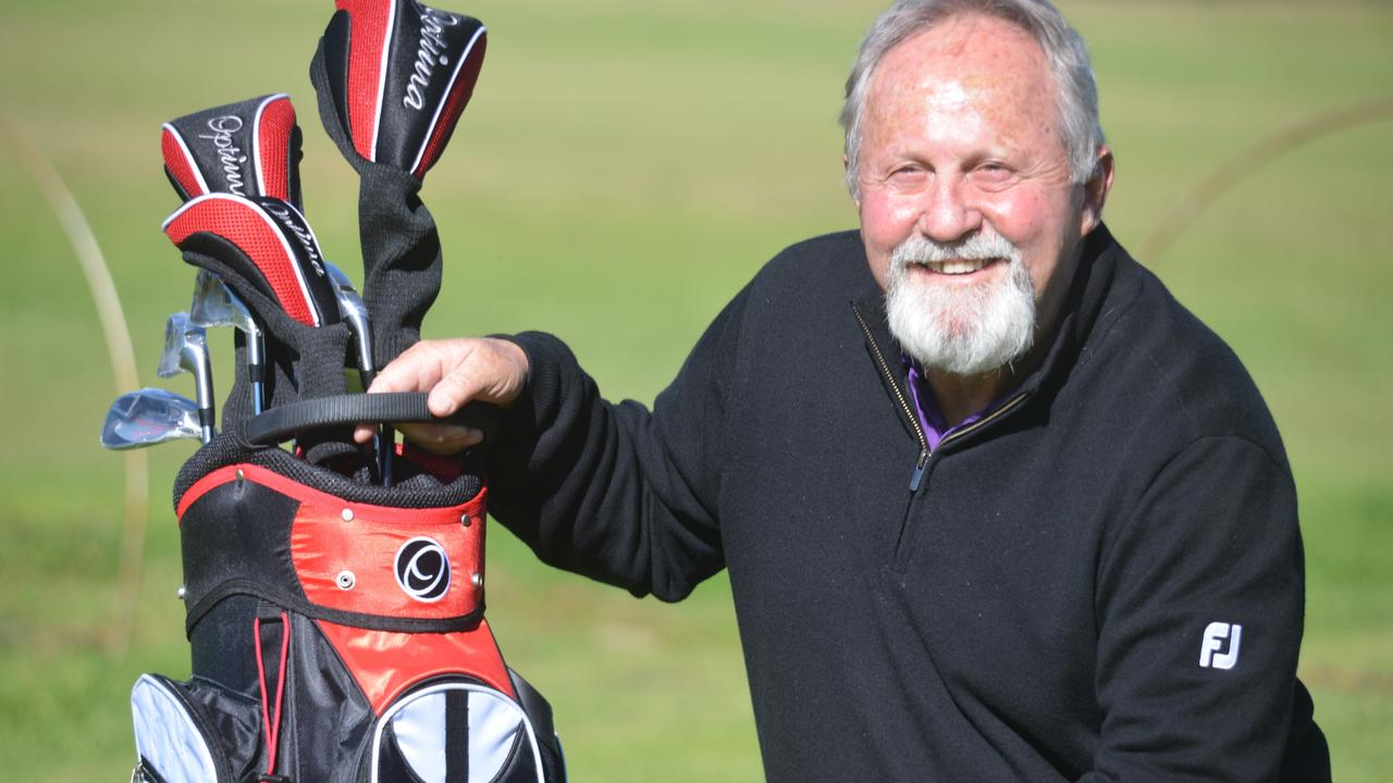 Former Gold Coast Chargers coach Phil Economidis on the golf course. Picture: Gerard Walsh (Warwick Daily News)