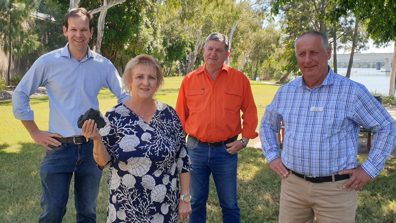 COAL SUPPORTERS: Queensland Senator Matt Canavan, Capricornia MP Michelle Landry and LNP candidates for Rockhampton - Tony Hopkins and Keppel - Adrian de Groot.