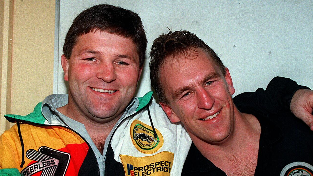 Royce Simmons as coach of Penrith alongside John Cartwritght back in 1994.