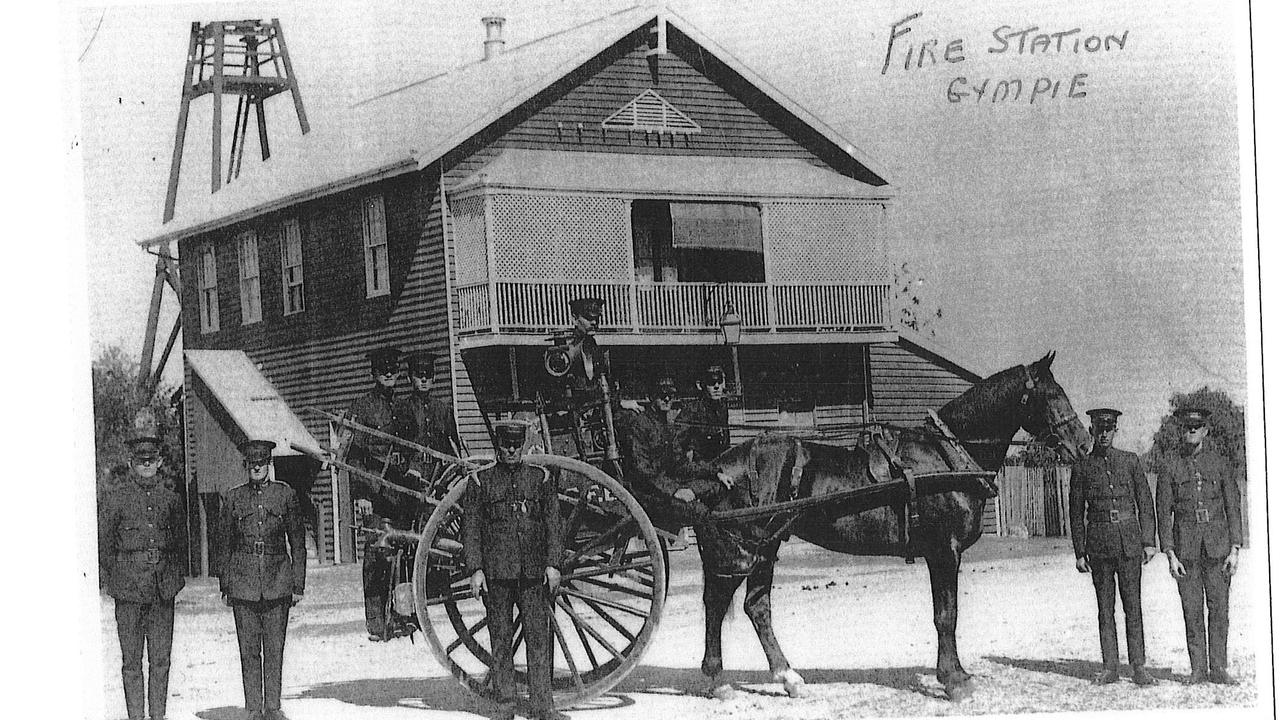 The original Gympie Fire Station. Photo credit Queensland FIre and Emergency Services. Date of photograph is unknown.