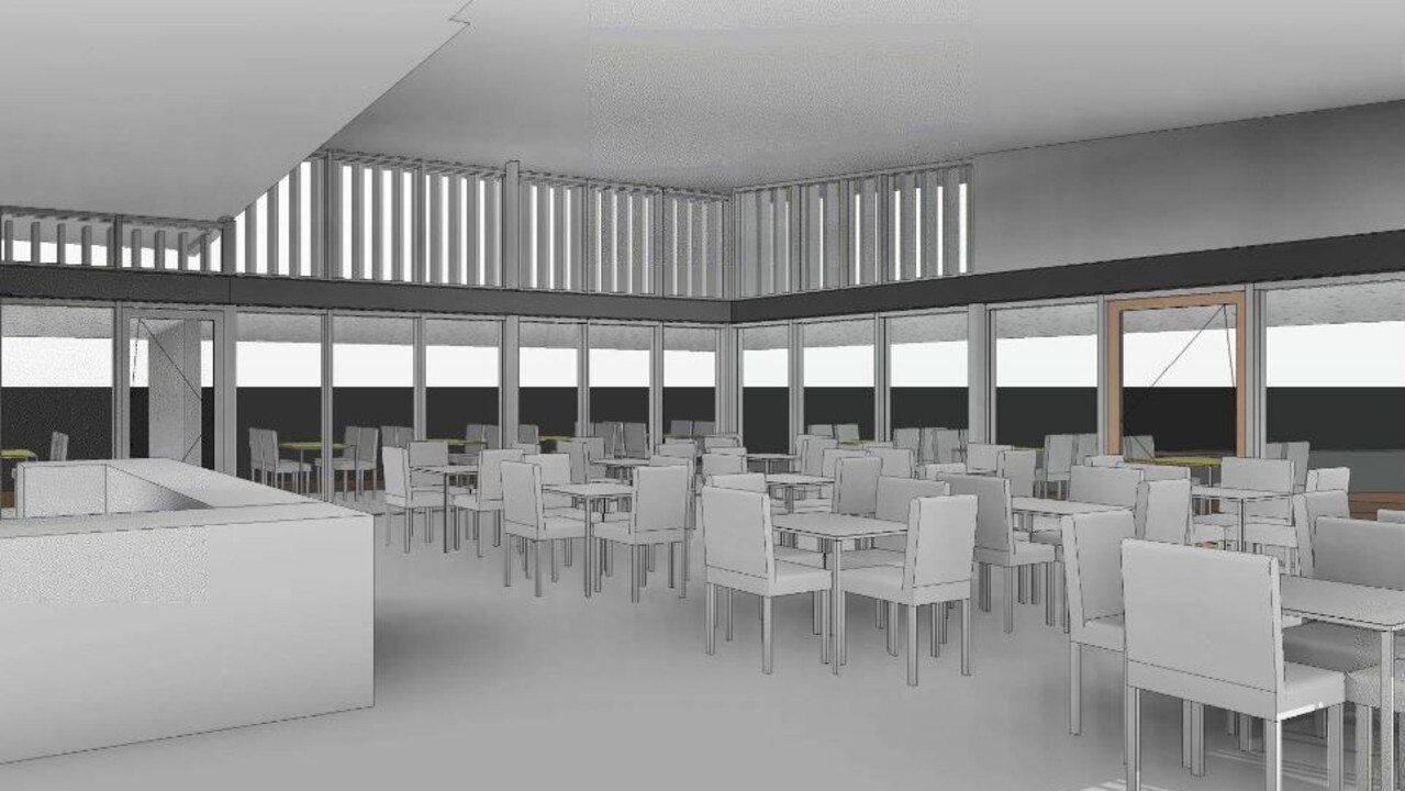 Original plans for the Flagstaff Hill redevelopment included a 100 seat cafe.