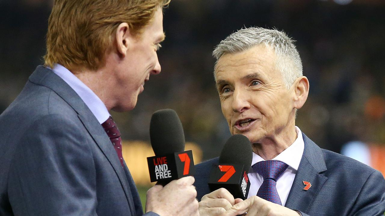 "Aussie sporting icon Bruce McAvaney has taken a cheap shot at AFL commentator Brian Taylor after the Channel 7 star ""dished him off""."