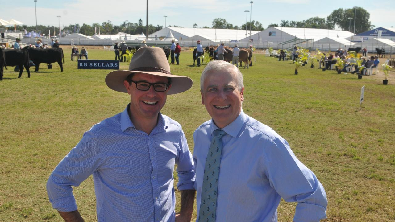 Federal Agriculture Minister David Littleproud and deputy prime minister Michael McCormack