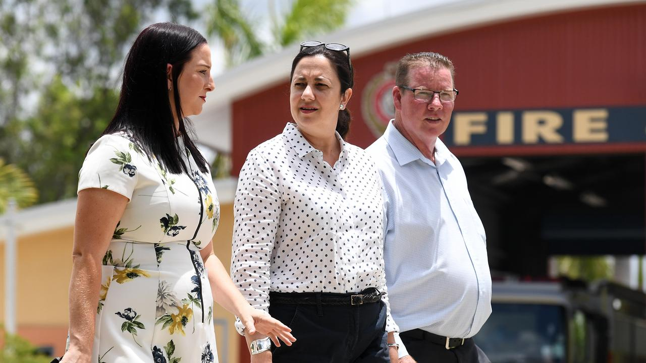 RECOVERY EFFORT: Having weathered the COVID-19 pandemic, Keppel MP Brittany Lauga (left), Queensland Premier Annastacia Palaszczuk and Rockhampton MP Barry O'Rourke are now focused on kick starting CQ's economic recovery. (AAP Image/Dan Peled)