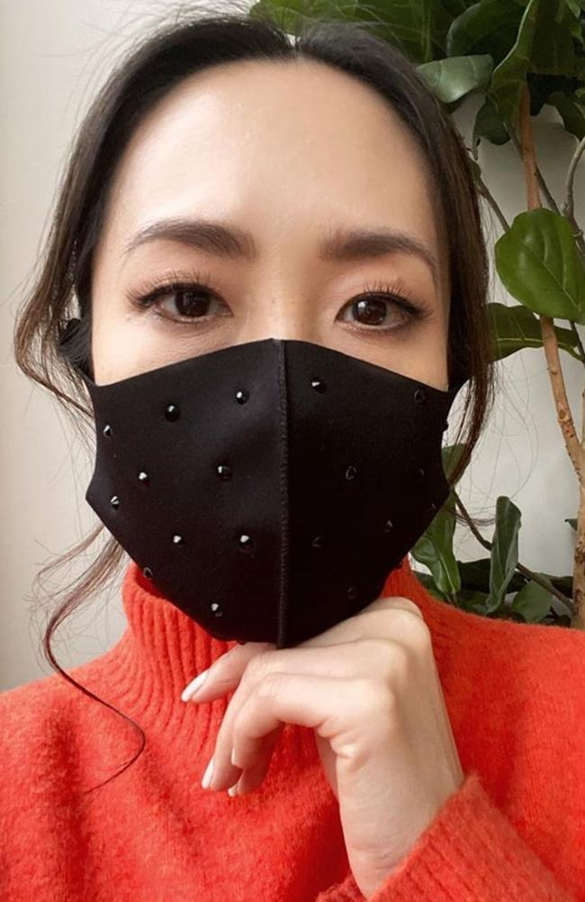 The wearing of face masks has caused a spike in skincare issues such as pimples and redness. Picture: Instagram/Melissa Leong