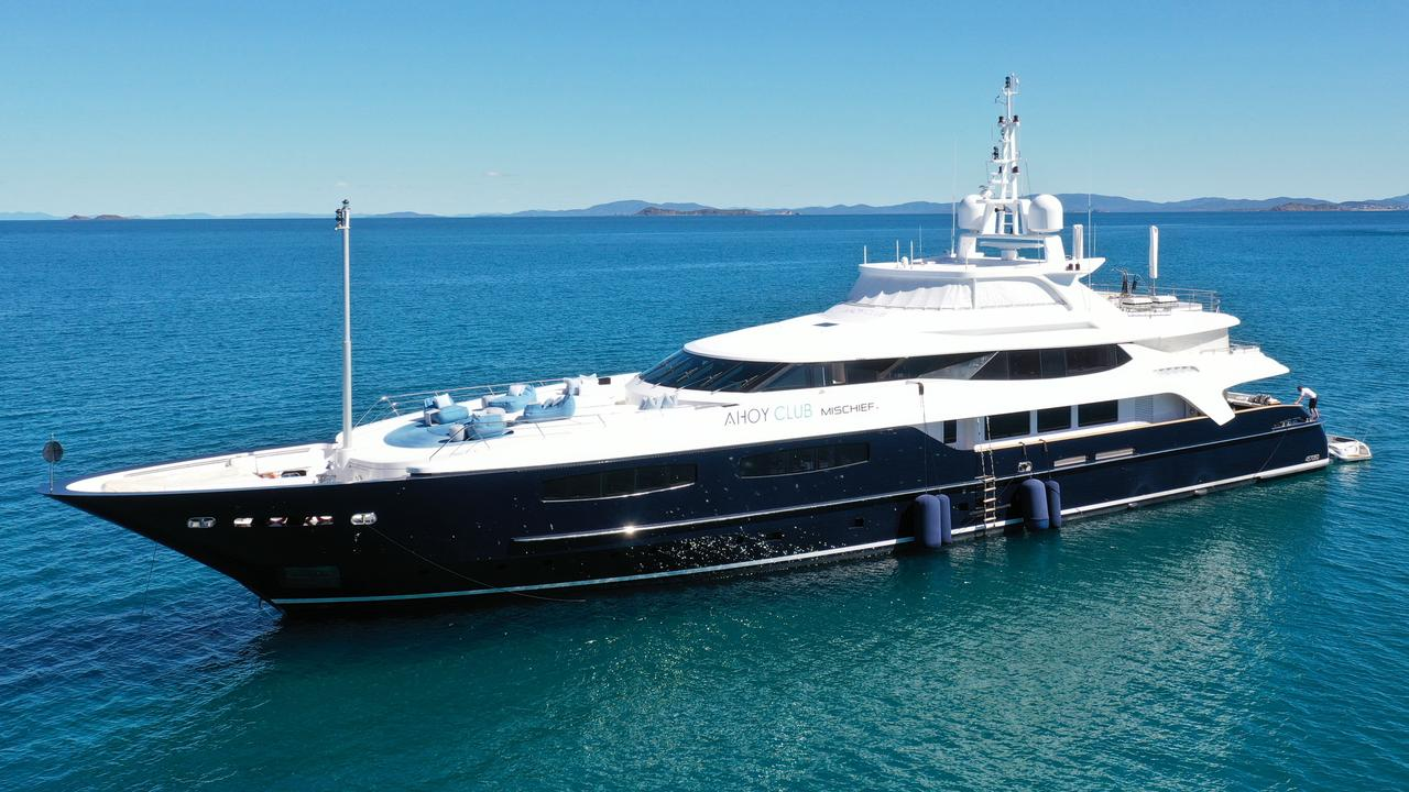GKI VISITOR: Mega-yacht Mischief has visited the Capricorn Coast with One Nation's candidate for Keppel Wade Rothery hoping to entice more luxury visitors to boost the local economy.