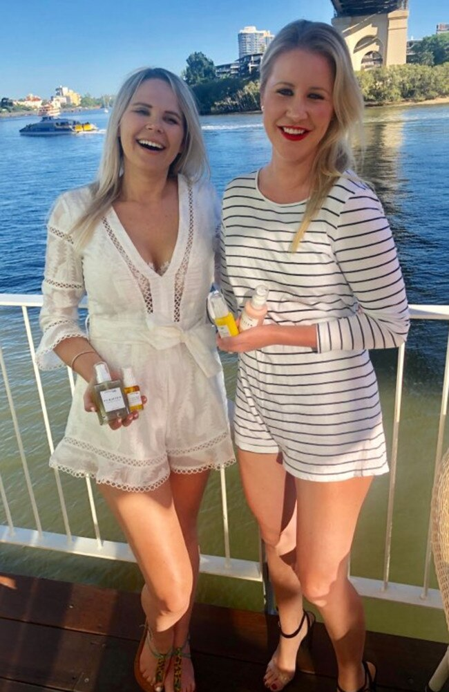 Simona Valev (L) and Shannon Lacey (R) formed the natural skincare brand in 2018. Picture: Supplied