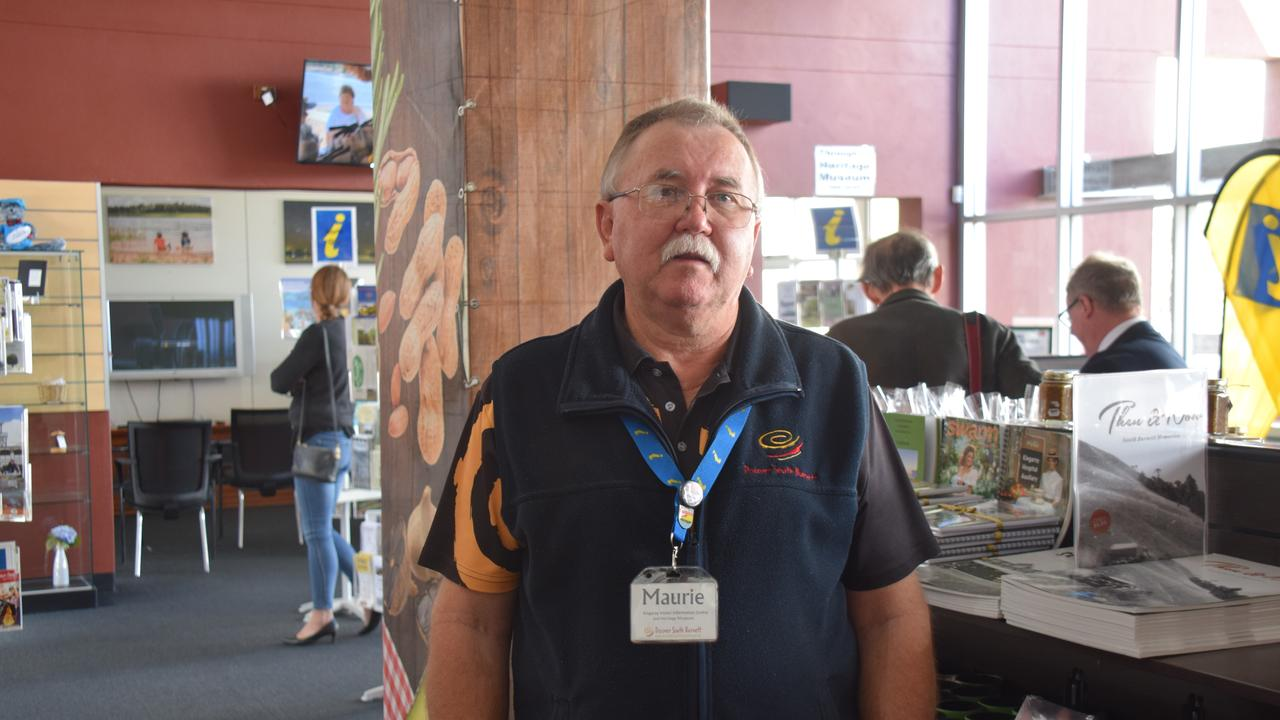 Kingaroy Information Centre volunteer Maurie Franklin said visitor numbers have been consistent since reopening back in June. (Picture: Tristan Evert)