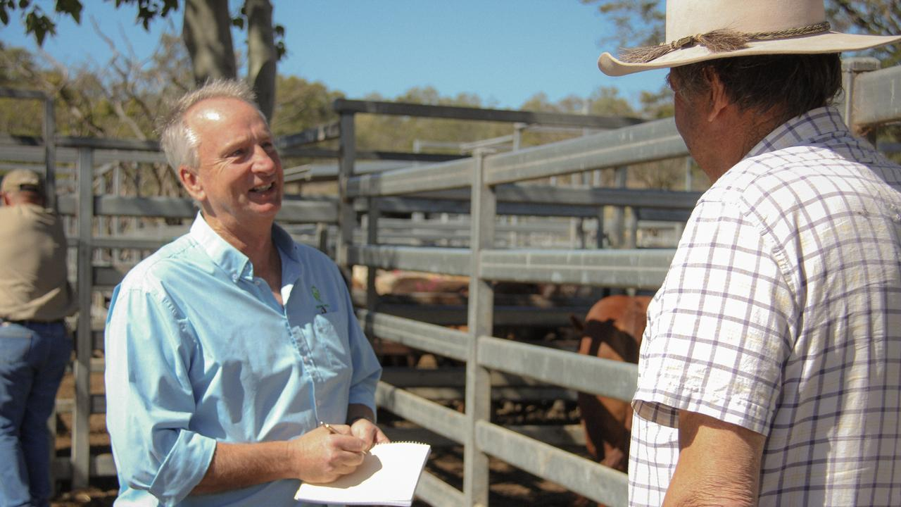 Local drought support officer Marc Leman at Laidley Saleyard. Photo: Supplied.