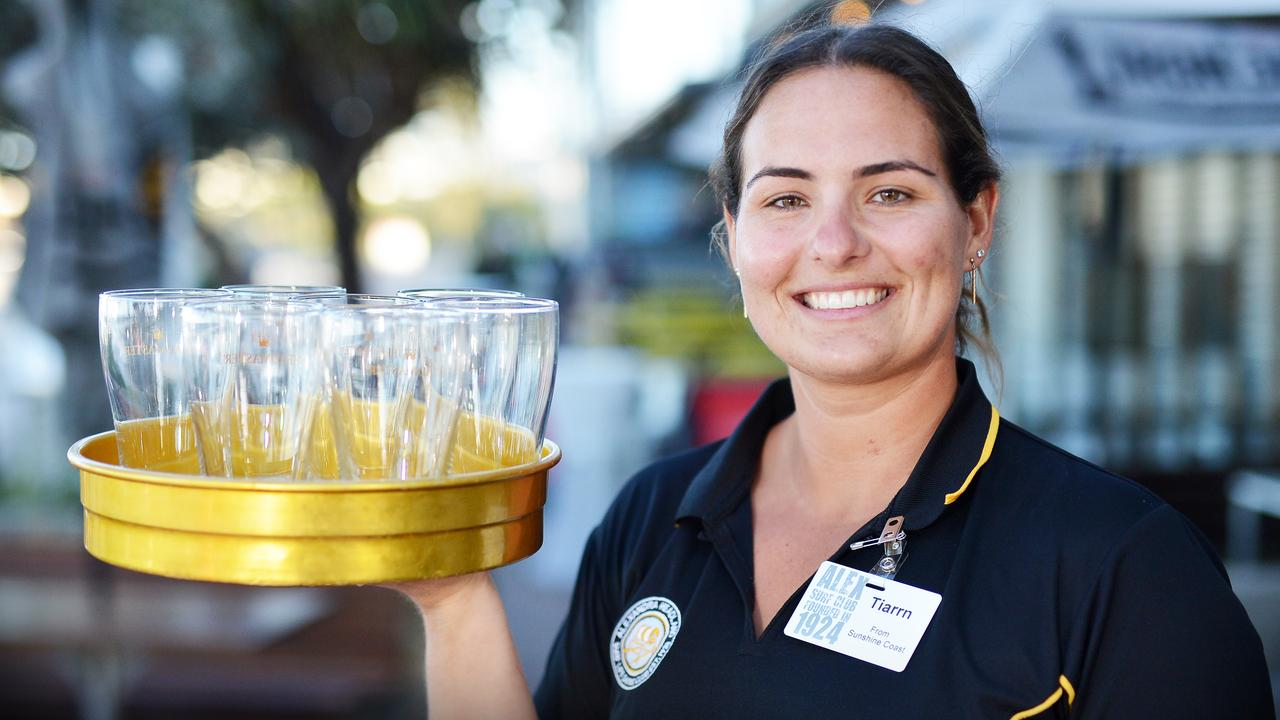Hospitality operators are struggling to recruit at the moment, with September holidays and Christmas nearing. Pictured is Alex Surf Club's Tiarrn Raymond. Photo: Patrick Woods