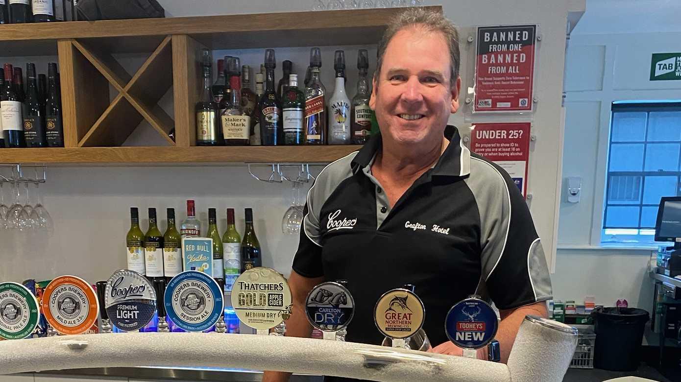 Grafton Hotel bar supervisor Chris Tuite