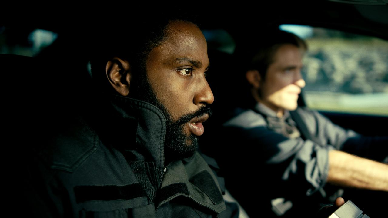 John David Washington and Robert Pattinson in Tenet.