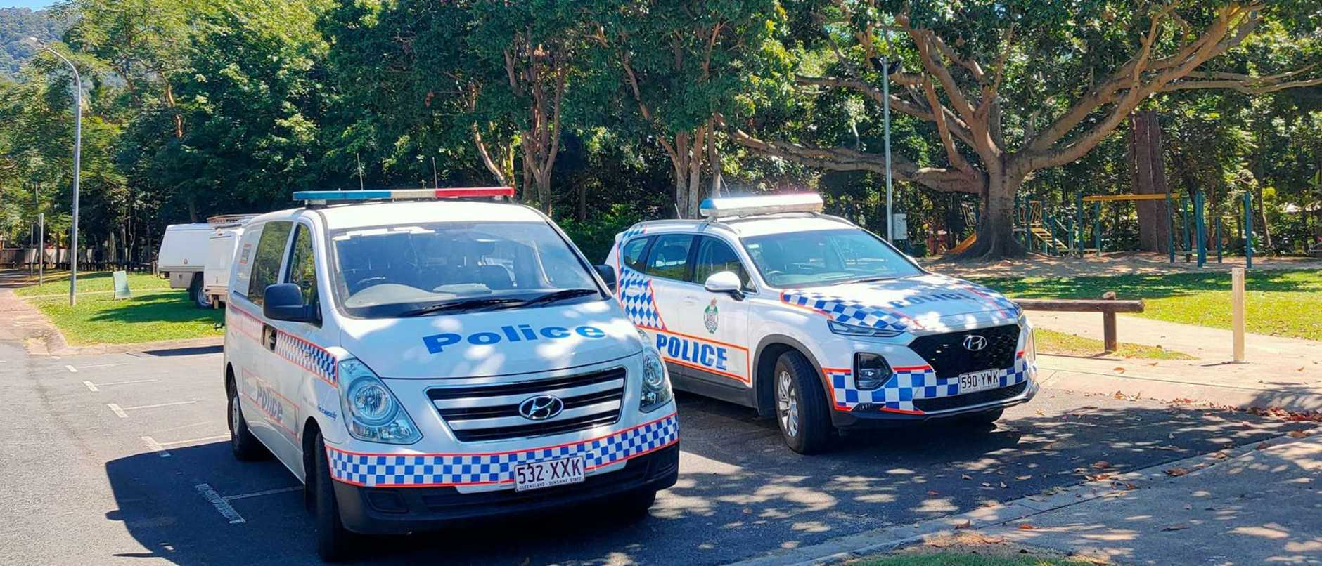 Police have established a crime scene in a suburban creek after reports of an assault on a child.