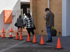 Residents line-up for COVID testing after new Ipswich cases