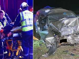 PHOTOS: Man escapes death after head-on crash into tree