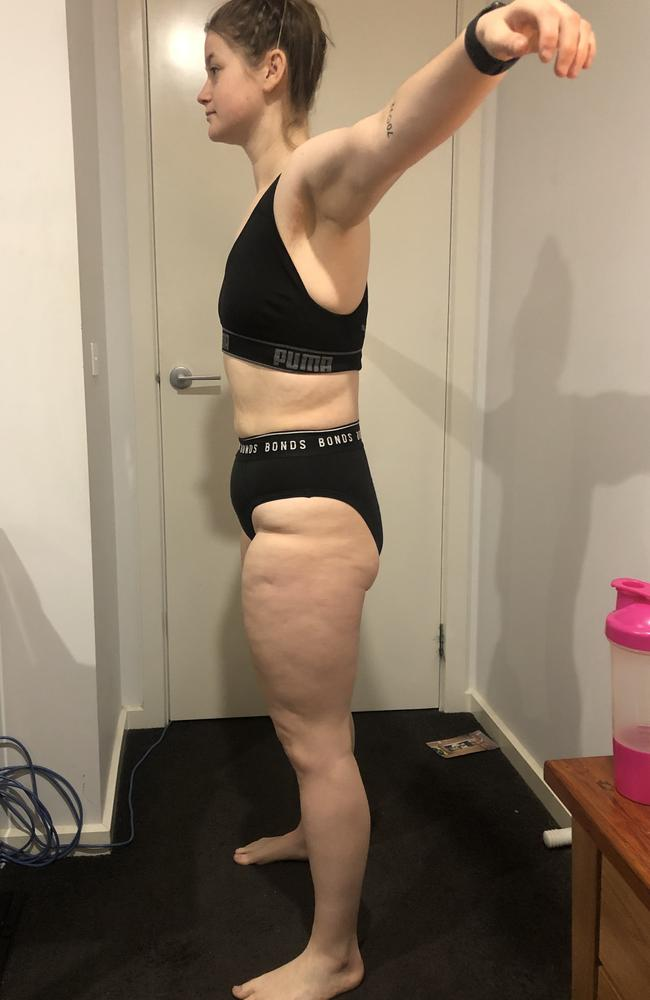 She said her goal now is to 'tighten' and 'tone' her body. Picture: Supplied
