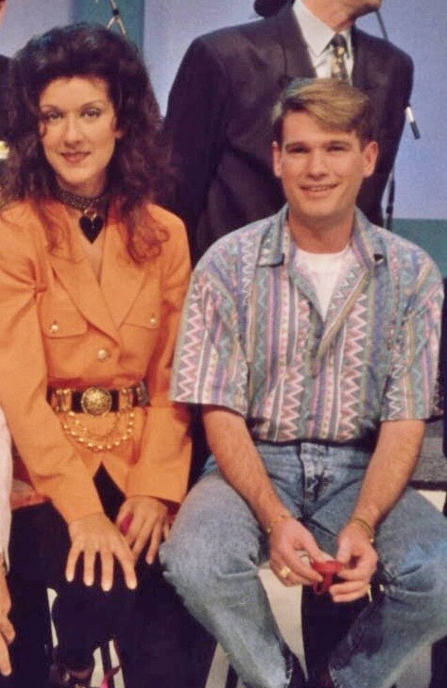 Celine Dion and Simon Gallaher at the Perth Telethon in 1991.