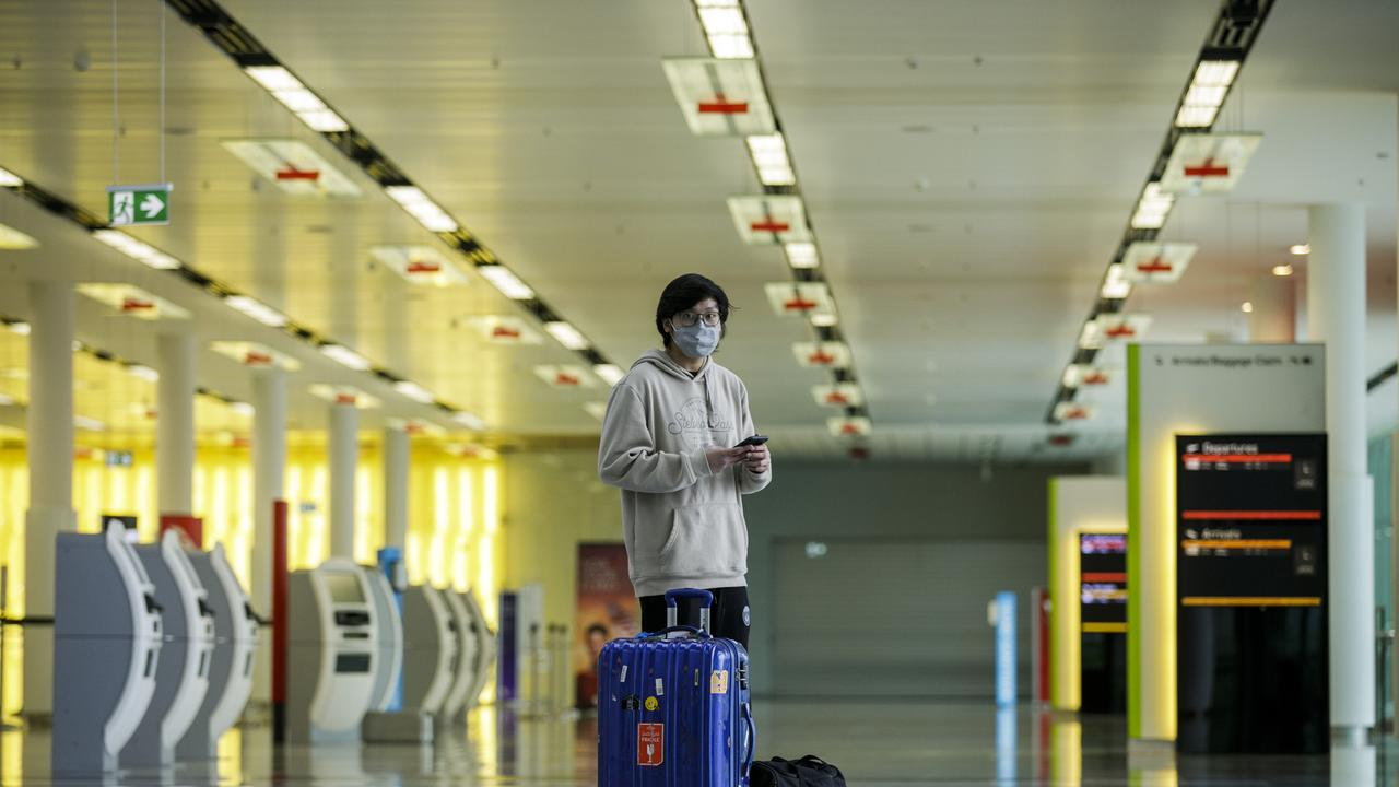 Airports around the world are the emptiest they've ever been as the coronavirus pandemic halts international travel. Picture: Sean Davey