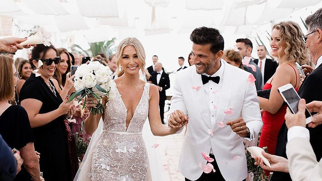 Anna Heinrich and Tim Robards on their wedding day. (Picture: Instagram)