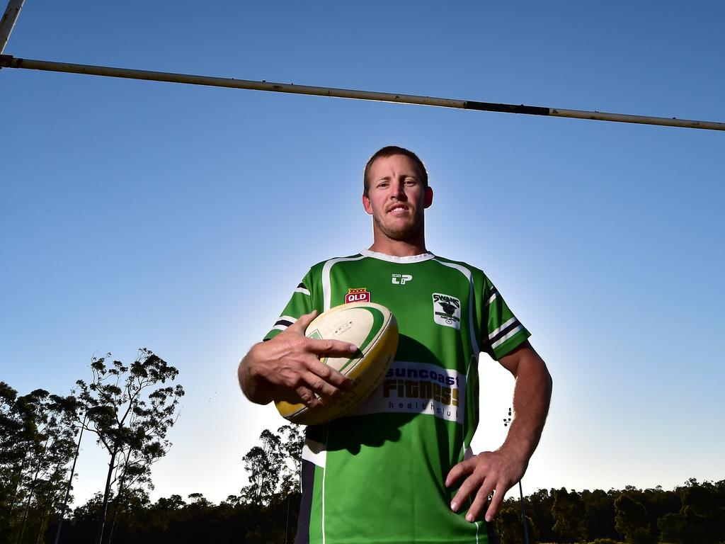 Troy Mendham of the Maroochydore Swans Rugby League Club. Photo: Che Chapman