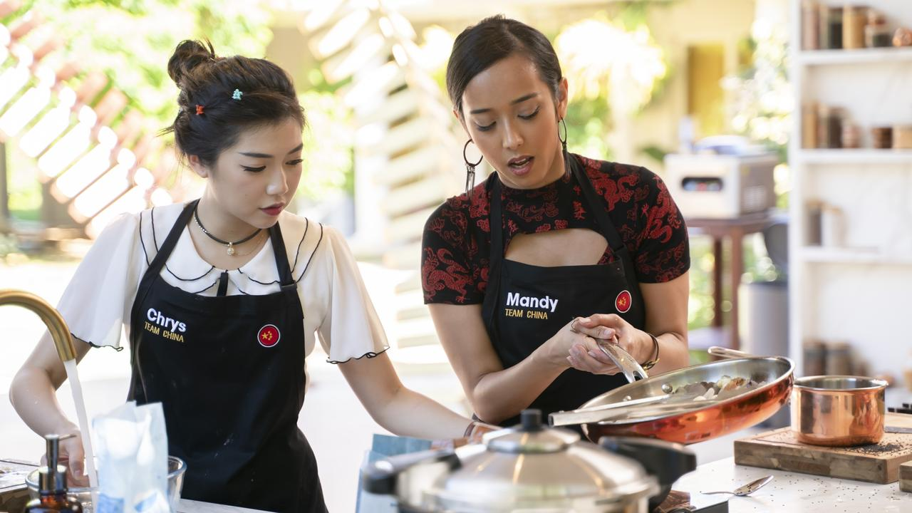 Chrys and her friend Mandy represented 'Team China' in the new reality cooking show. Picture: Supplied