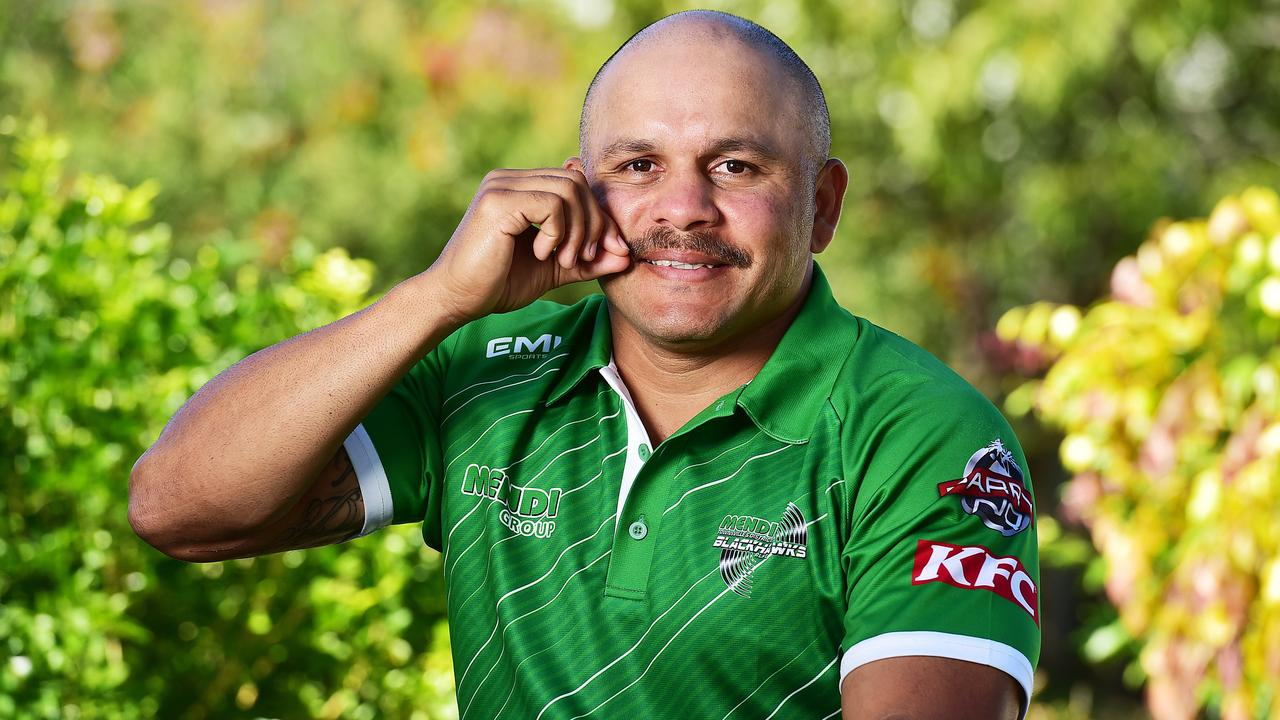 Cowboys legend and Movember participant Matt Bowen. Picture: Shae Beplate.