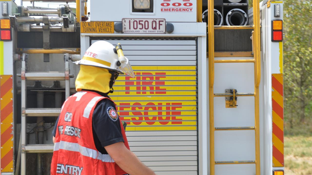Firefighters are battling a bushfire in Cootharaba, Noosa Shire. Photo: Zizi Averill