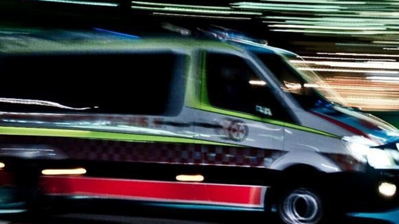 A woman became trapped in her vehicle after tumbling five metres down an embankment at Kin Kin last night.