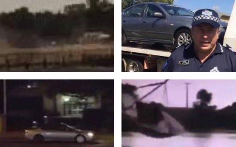 Hoons have been caught on camera around the region.