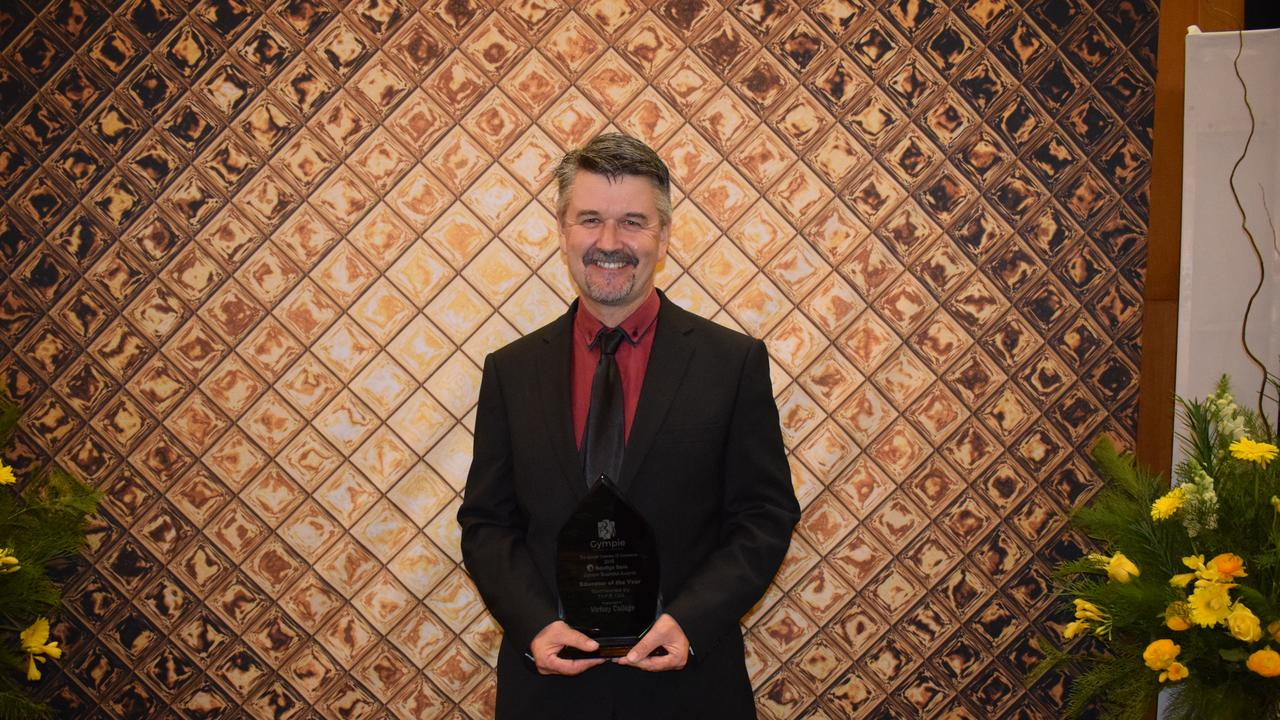 Educator of the Year - Brett Costin of Victory College at the Gympie Business Awards.