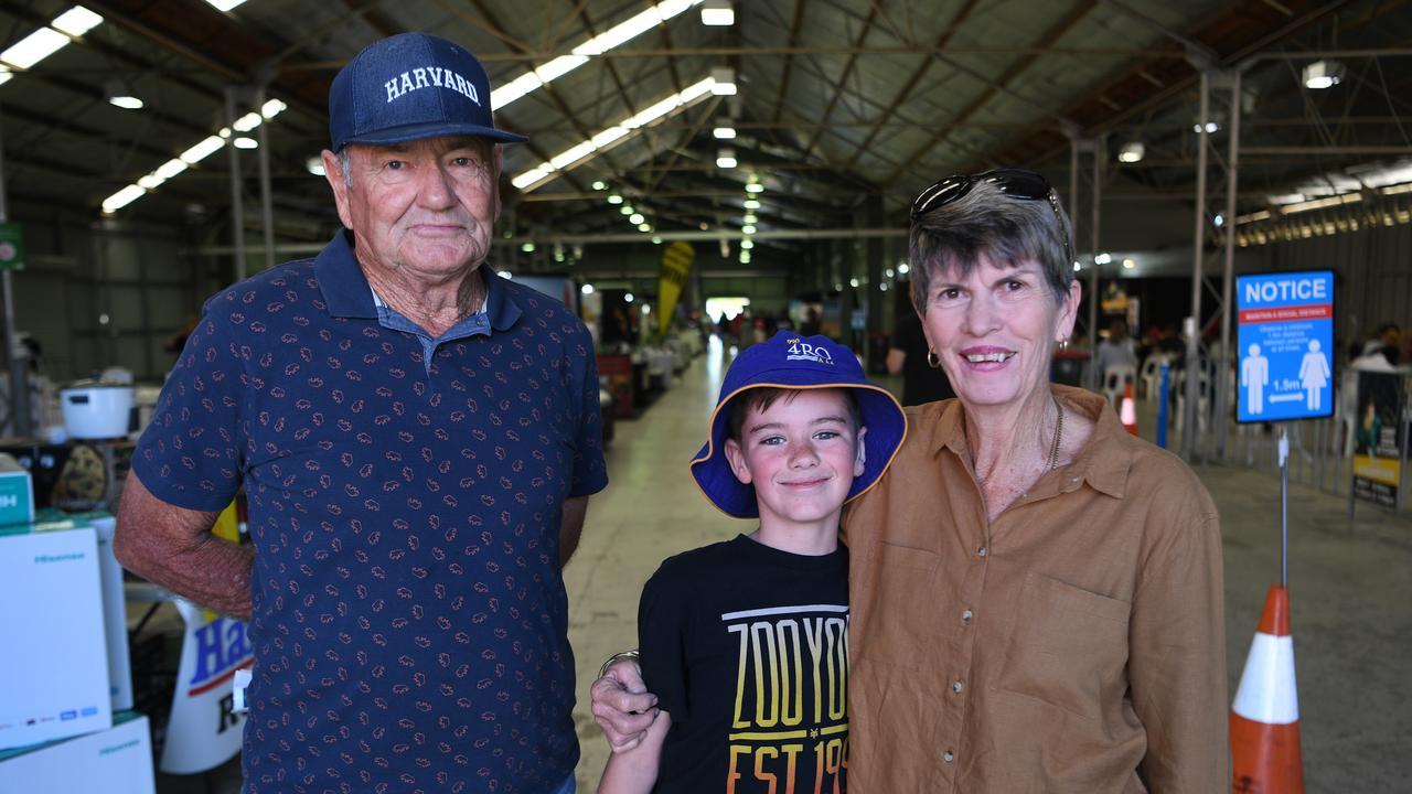 Kevin Sugars, Cash Fletcher and Cheryl Sugars at the Rockhampton Expo