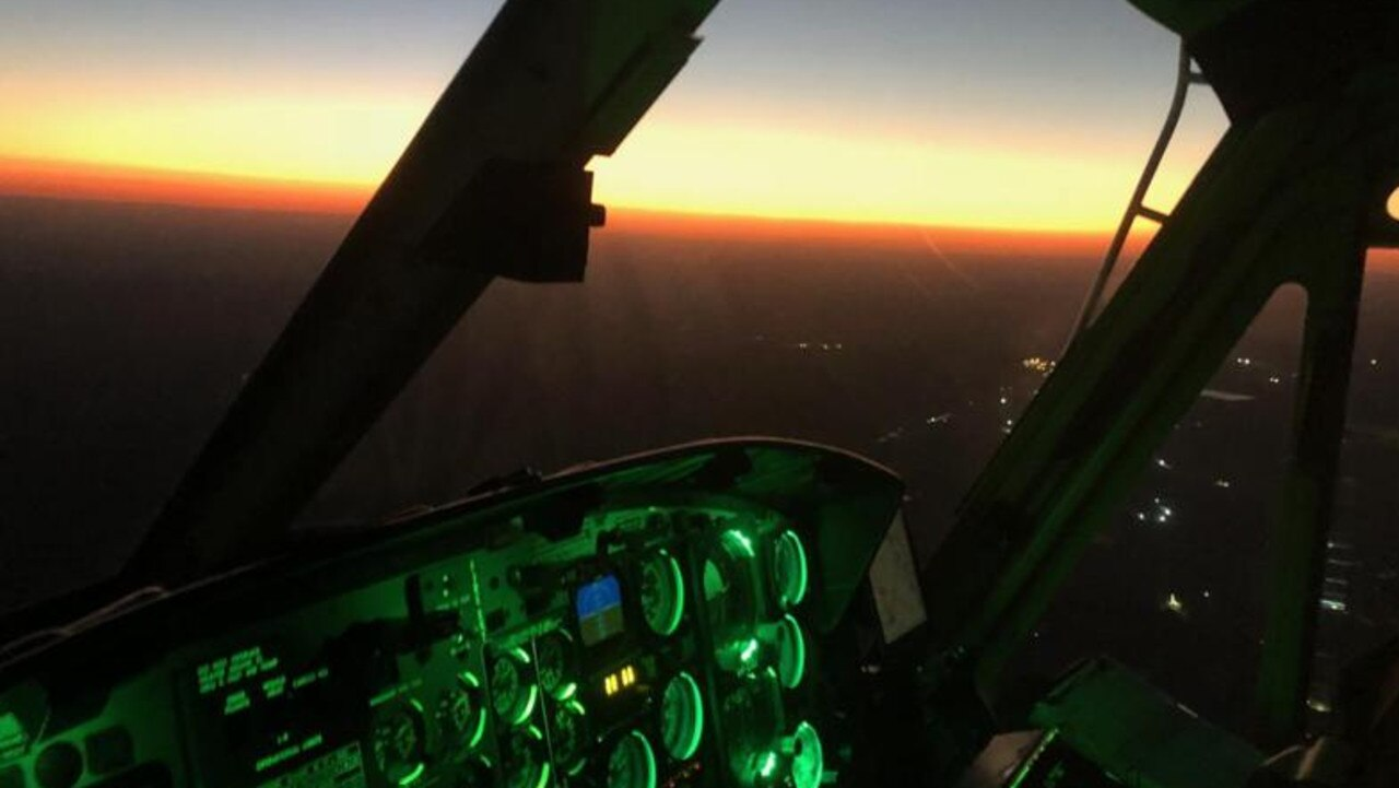 RACQ CQ Rescue has made an official report to police after a laser beam was shone at the helicopter during a medical transfer on Thursday.