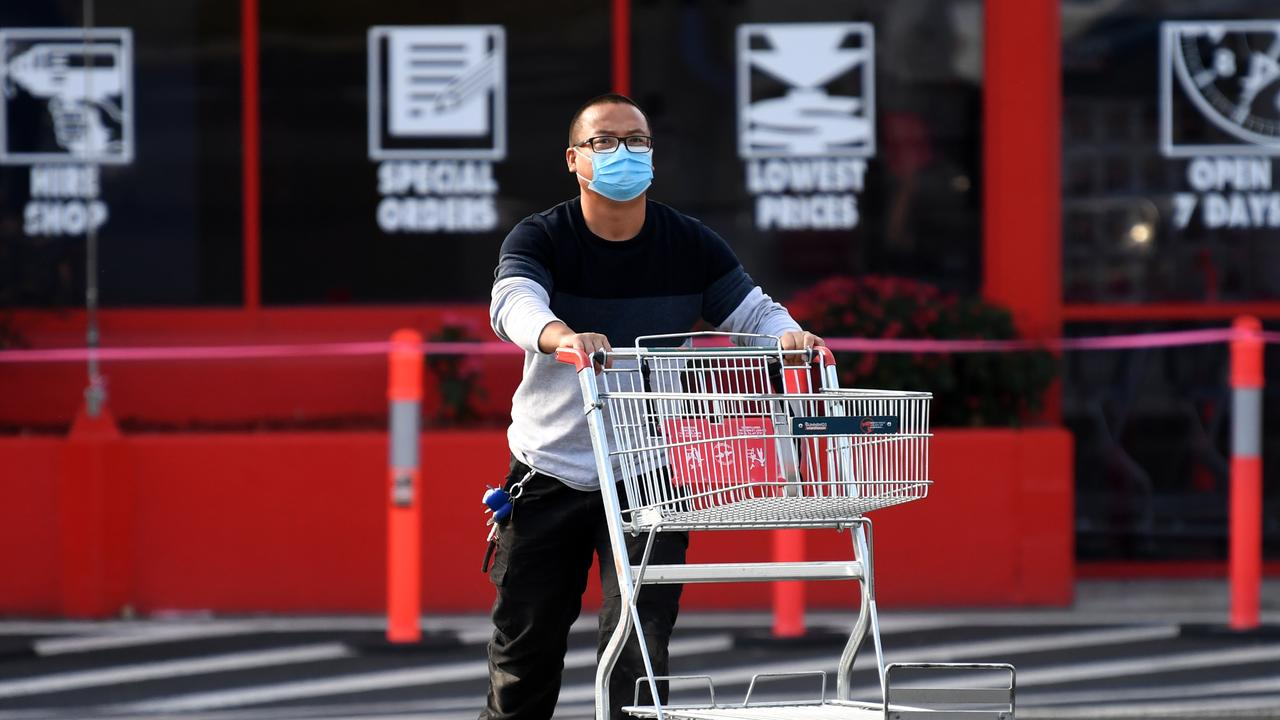 Businesses including Bunnings are dealing with exposure to a COVID case. Picture: Dan Peled