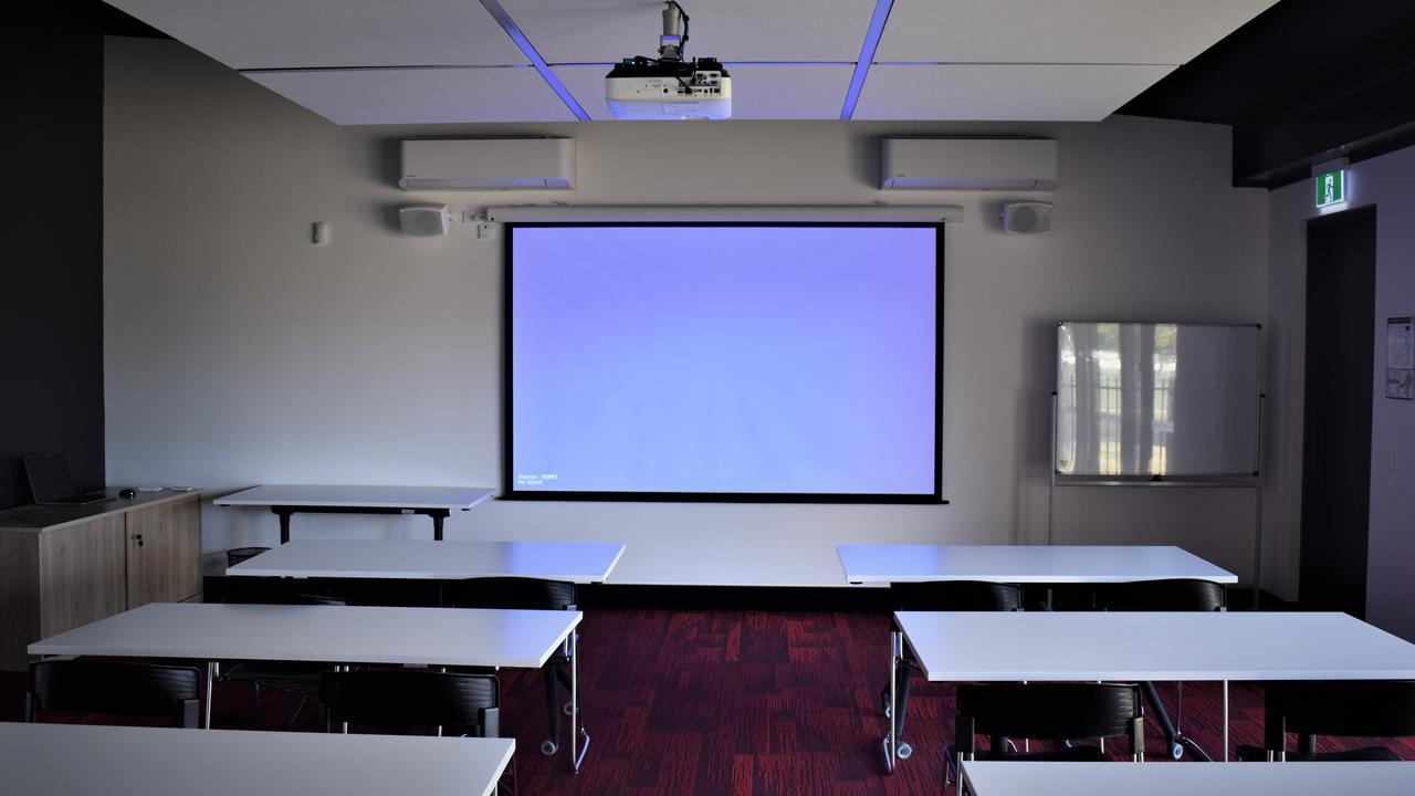 A state-of-the-art classroom will be available for high level sporting analysis and training at the $6.5 million Grafton PCYC facility which opens on Monday, August 24, 2020. Photo Bill North / The Daily Examiner