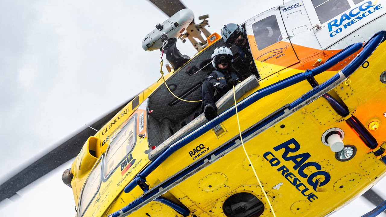 A RACQ CQ Rescue spokeswoman said the laser pointer incident put the lives of crew, patients and other aircraft in danger.