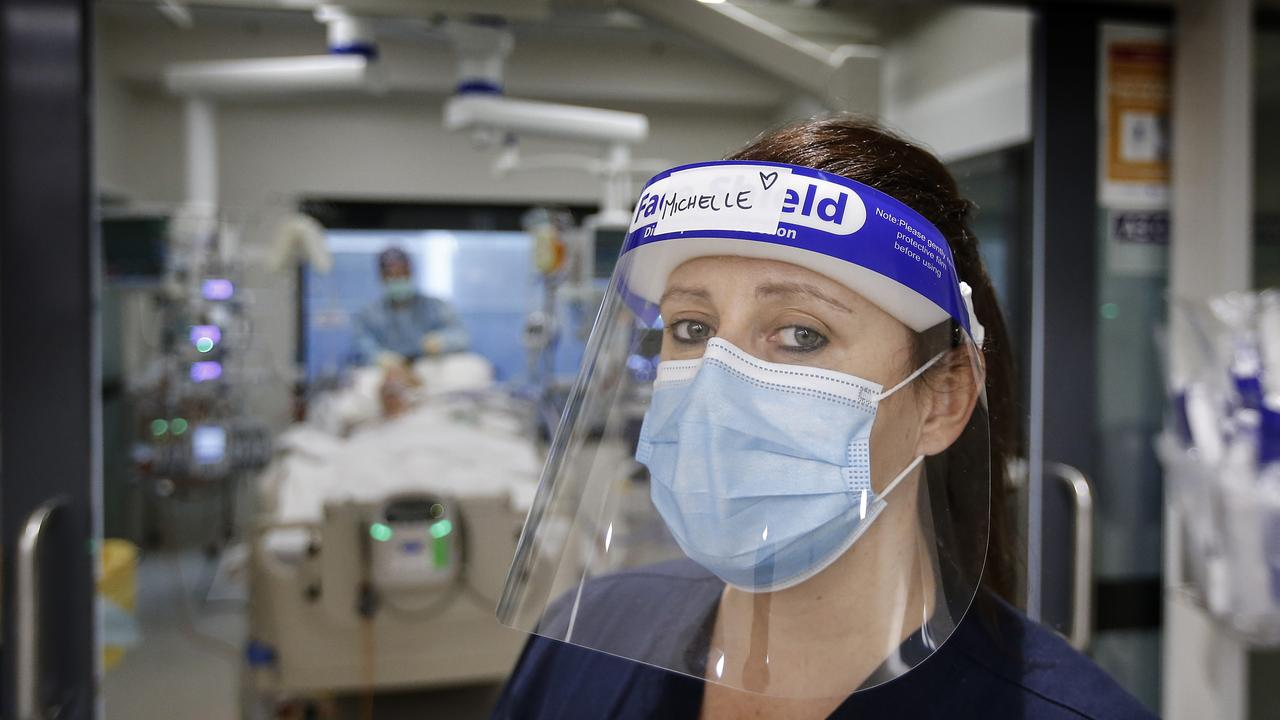 ICU Unit Manager Michelle Spence ready to take on critical COVID patients. Picture: David Caird