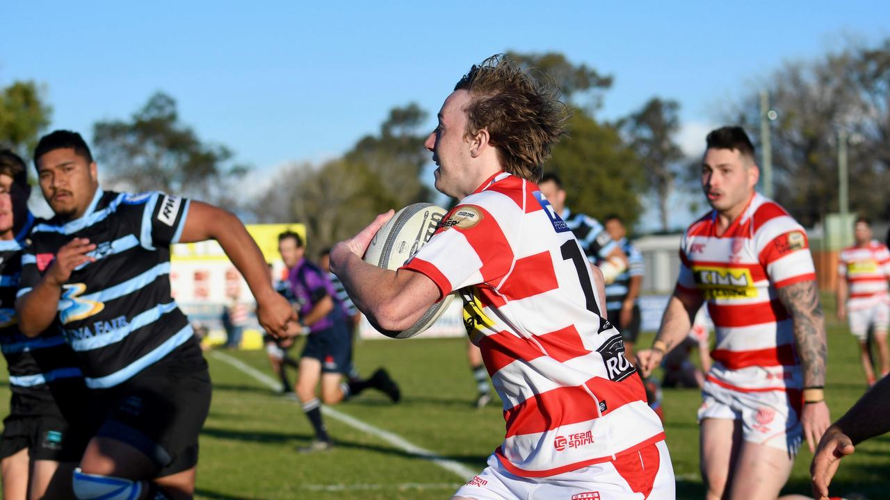 AWAY: Grafton speedster Reilly Lawrence-King scored a scintillating try against the Ballina Seahorses on Saturday bringing the Redmen supporters to their feet.