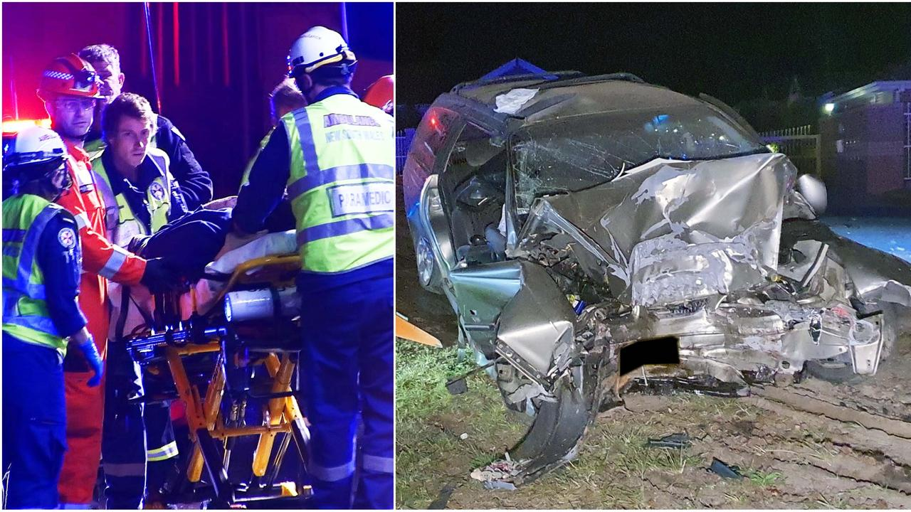 A man escaped death after crashing his vehicle into a tree near the Coffs Harbour CBD.