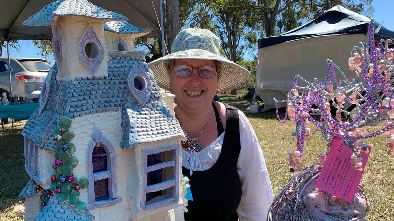 Pamela Evans from Howard loves creating fairy castles.
