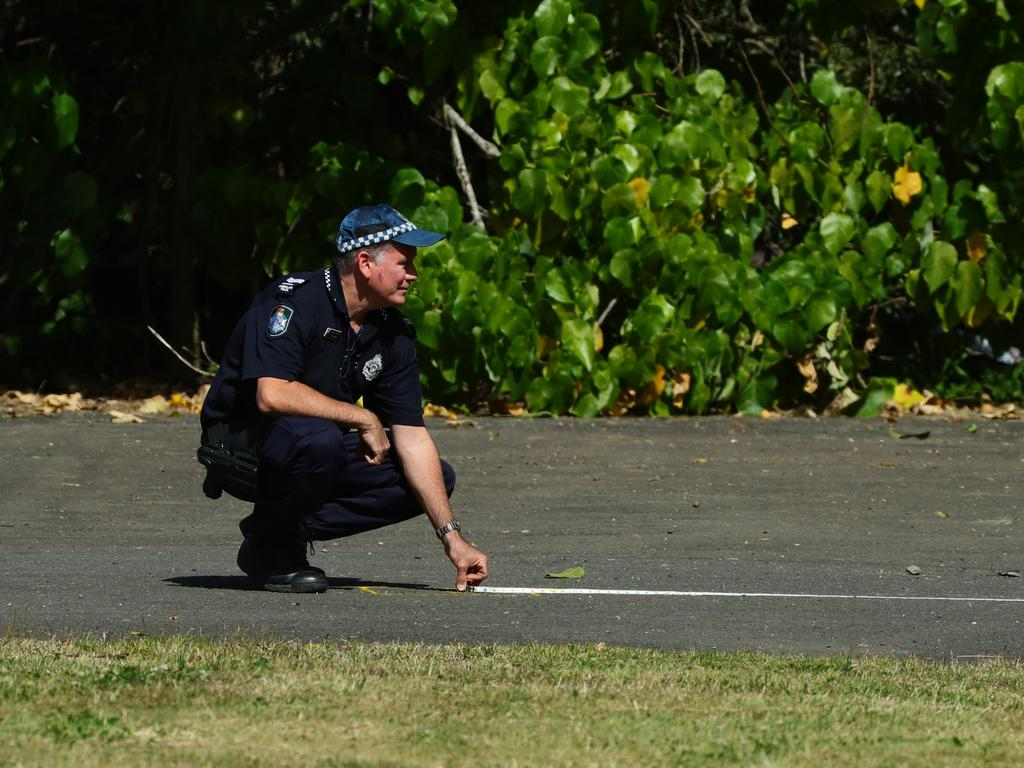 Police on scene near Petrie Creek at Nambour where the body of a 31-year-old woman was found in the early hours of Saturday morning. Photo Lachie Millard