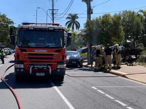 Street closed, building evacuated after solar panel fire
