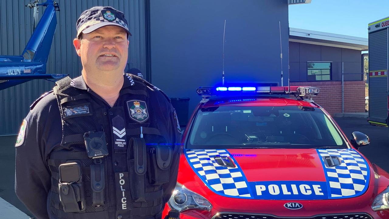 EMERGENCY CREWS ASSEMBLE: Bundaberg Road Policing Unit Senior Constable Steve Moore.