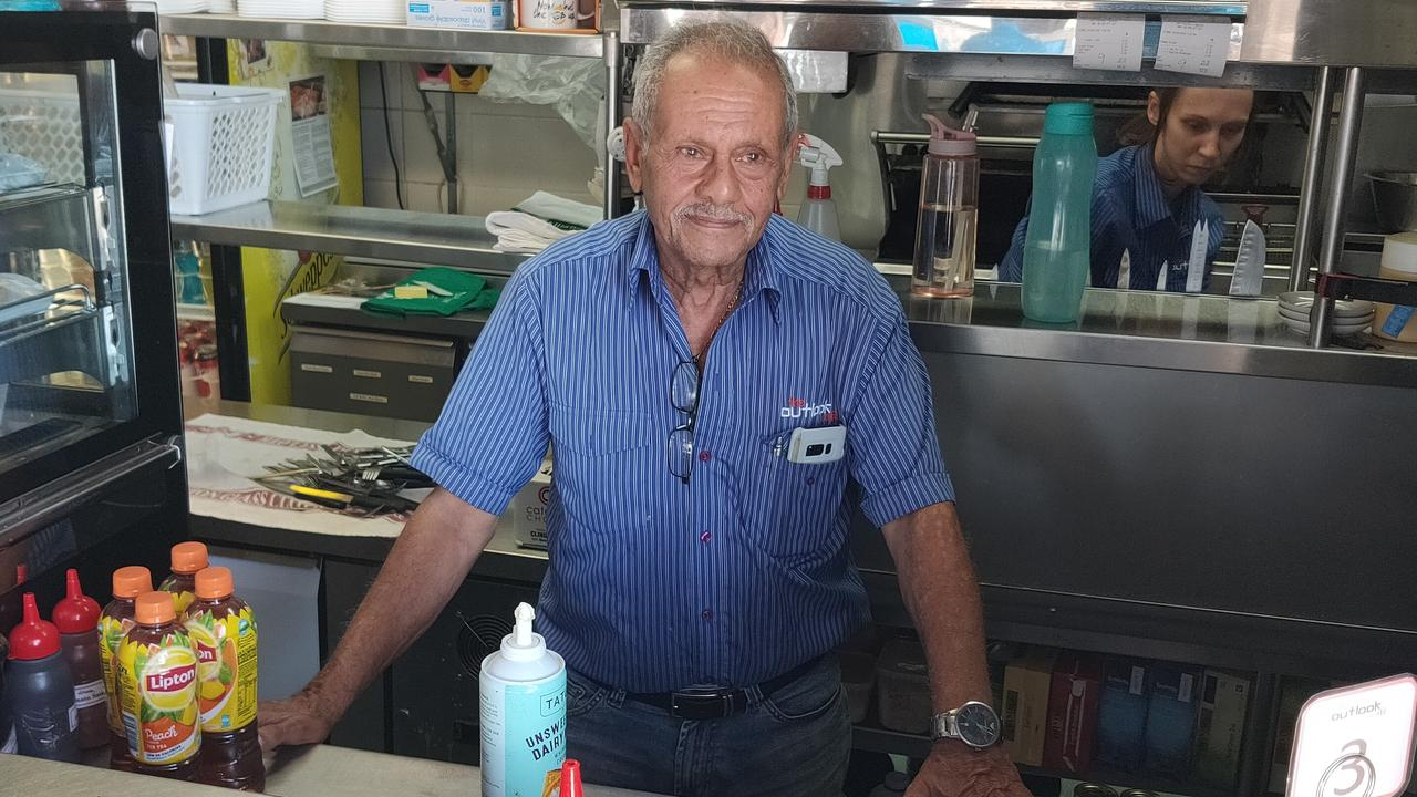 Bill Fawzi has been feeding the people of Gladstone since 1980, first in his South Gladstone Pizza shops, now at The Outlook Cafe on Auckland Hill. Picture Rodney Stevens